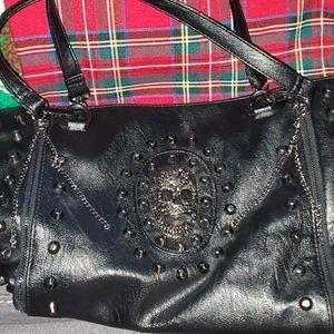 Handbags - Studded skull shoulder bag